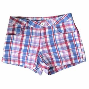 Girls Plaid Shorts by Extremely Me Size 10/12 A3